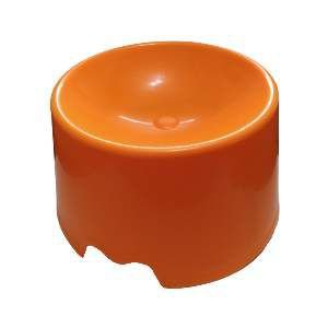 Comedouro plastico feed cat laranja - Club Pet Maxx - 15x10x18cm