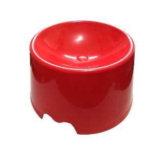 Comedouro plastico feed cat vermelho - Club Pet Maxx - 15x10x18cm