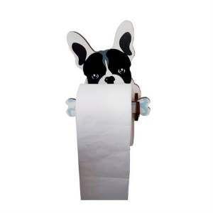 Porta papel higienico madeira 3D bulldog - Tatuagem Mania - 15x18cm