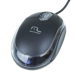 MOUSE ÒPTICO CLASSIC PRETO 1200DPI USB PRETO