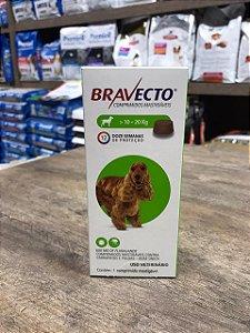 Bravecto 10 - 20 kg prevenção Carrapatos e pulgas