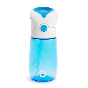 Copo com Canudo Flip and Go Azul 355 ml Munchkin