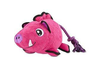 Brinquedo para Cães Resistente de Pelúcia com Corda Javali Tough G