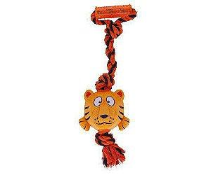 Brinquedo para Cães Tuggerz Tigre de Pelúcia com Corda