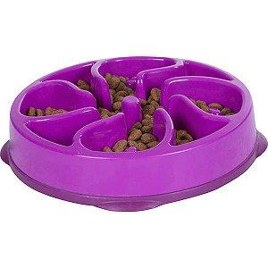 Comedouro Lento Fun Feeder Mini para Cachorro Roxo