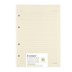 Refil Pautado Caderno Criativo 80g/m² Cicero
