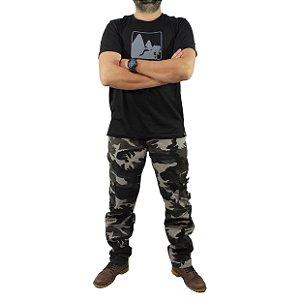 Camiseta Zk Adventure Estampa Preta Masculina