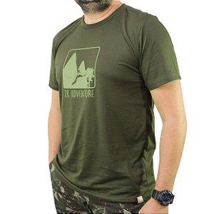 Camiseta Zk Adventure Estampa Verde Masculina