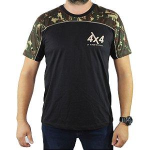 Camiseta Zk Adventure Camuflada Preta Masculina