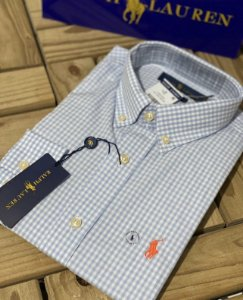 Camisa Ralph Lauren Masculina Custom Fit Plaid
