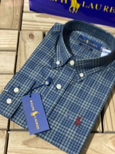 Camisa Ralph Lauren Masculina Custom Fit Xadrez