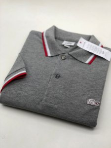 Camisa Polo Lacoste Croc Limited Edition Cinza