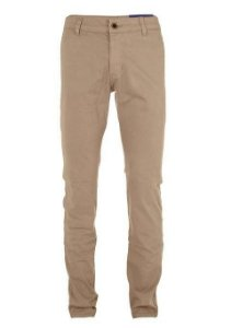 Calça Ralph Lauren Masculina de Sarja Chino Stretch Slim Fit Caqui