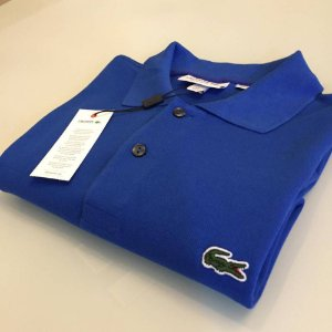 Camisa Polo Lacoste Croc Bordado Royal