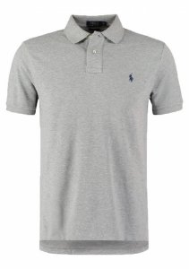Camisa Polo Ralph Lauren Custom-Fit Cinza