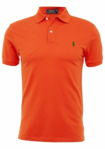 Camisa Polo Ralph Lauren Custom-Fit Laranja