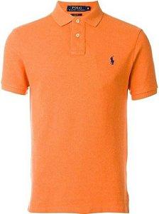 Camisa Polo Ralph Lauren Custom-Fit Laranja