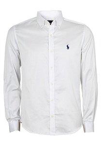 Camisa Ralph Lauren Masculina Custom Fit Branca