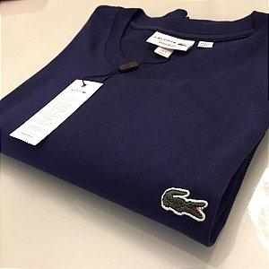 Camiseta Lacoste Basic Croc Bordado Azul marinho