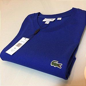 Camiseta Lacoste Basic Croc Bordado Azul royal