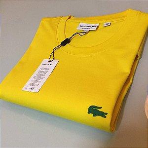 Camiseta Lacoste Basic Croc Borracha Amarela