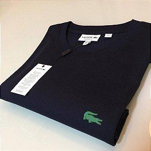 Camiseta Lacoste Basic Croc Borracha Preta