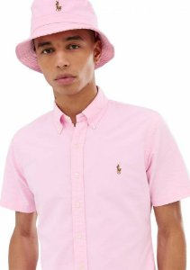 Camisa Ralph Lauren Masculina Manga curta Oxford Color Rosa