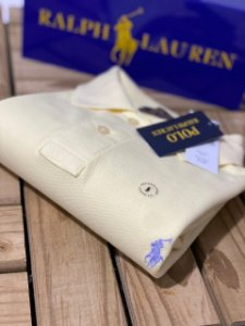Camisa Polo Ralph Lauren Custom-Fit Off-White