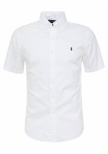Camisa Ralph Lauren Masculina Manga curta Branca