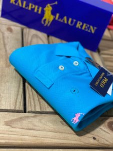 Camisa Polo Ralph Lauren Custom-Fit Azul
