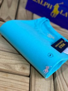 Camiseta Ralph Lauren Basic Custom-Fit Azul Bebê