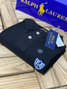 Camisa Polo Ralph Lauren Custom-Fit Shield Preta