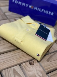 Polo Tommy Hilfiger Masculina Regular Fit Amarela