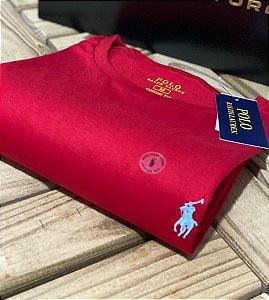 Camiseta Ralph Lauren Basic Custom-Fit Vermelha