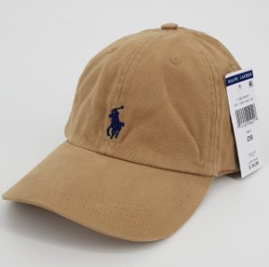 Boné Polo Ralph Lauren Cotton Chino Baseball Caqui escuro