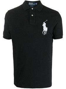 Camisa Polo Ralph Lauren Custom-Fit Big Pony Preta