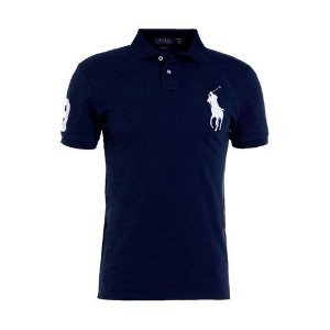 Camisa Polo Ralph Lauren Custom-Fit Big Pony Azul marinho
