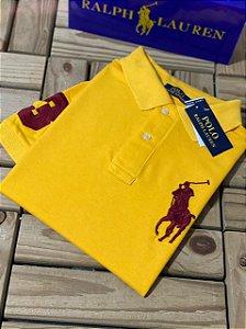 Camisa Polo Ralph Lauren Custom-Fit Big Pony Amarela