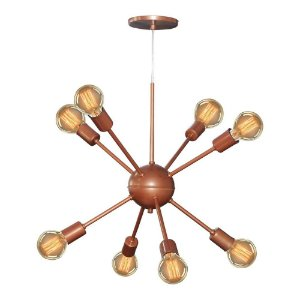 Lustre Pendente Sputnik 8 Lâmpadas Bivolt