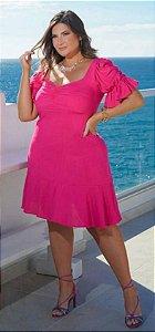 Vestido Curto Liso Pink