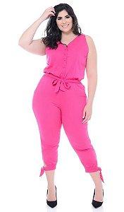 Macacão Pink jogger viscolinho