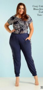 CONJUNTO PLUS SIZE ESTAMPADO