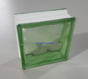 Bloco de Vidro Verde Madex