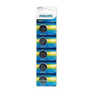 Bateria Cr2016 3v Philips cartela com 5 unidades