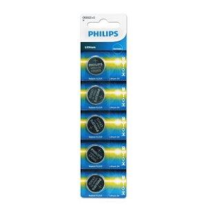 Bateria Cr2025 3v Philips cartela com 5 unidades