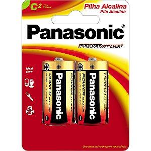 PILHA ALCALINA C PANASONIC C/2 (CAR/2)