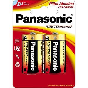 PILHA ALCALINA D PANASONIC C/2 (CAR/2)