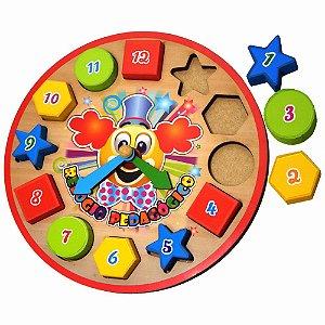 Relógio Pedagógico Colorido Aprendizado Infantil Divertido