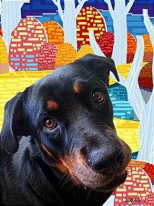 Quadro  Pet personalizado 20x30 painel de madeira