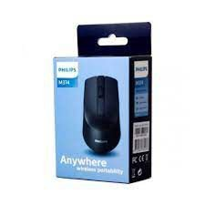 Mouse USB Óptico Philips M104 Preto